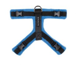 Perfect Fit dog harnes blue and black three piece